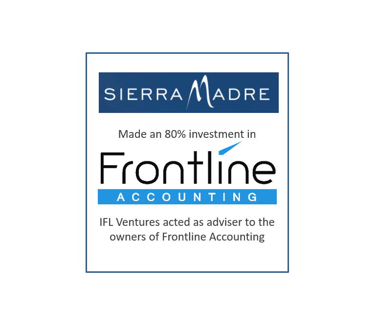 IFL Ventures advises Frontline Accounting on its 80% sale to Sierra Madre