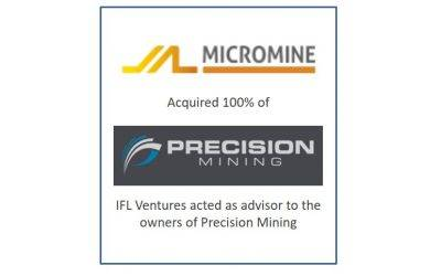 IFL Ventures advises Precision Mining on its 100% sale to MICROMINE